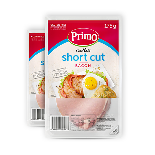 Primo Short Cut Bacon Rindless 175g